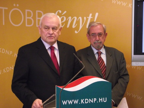 Harrach Péter és Rubovszky György sajtótájékoztatója