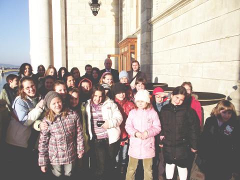 Szõdi diákok a parlamentben