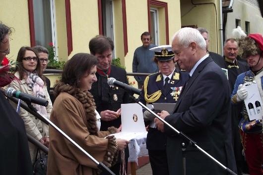 Habsburg hercegnõ Ipolydamásdon